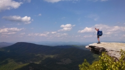 America the Beautiful! I am looking out at the Shenandoah Valley in southern Virginia. This was one of many views I saw