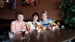 At Mularkys before Saturday dinner (Sandy Gianoli Smith; Carolyn Dahlke Wakeman; Lynn Kieffer Madl)
